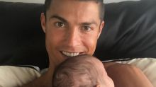 Cristiano Ronaldo's cheering squad includes his four adorable kids