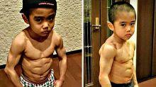 """El """"futuro Bruce Lee"""" cuyo cuerpo no corresponde a su edad"""