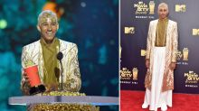 Aussie actor becomes award show hero after wearing dress