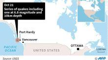 Four earthquakes strike off Canada's west coast