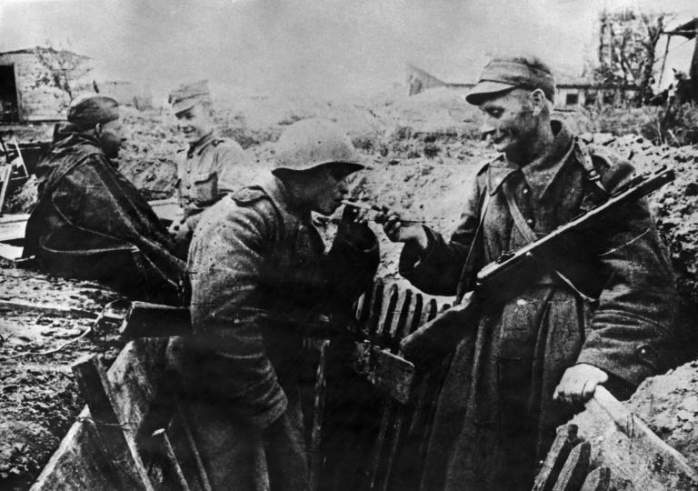 The Soviet Union along with the US and UK forces fought against the Nazis