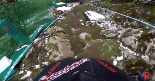 VTT - DH - GoPro Preview : la descente de Lourdes en caméra embarquée avec Claudio Caluori
