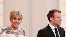 French First Lady Brigitte Macron Chooses Custom Louis Vuitton for the Luxembourg State Dinner
