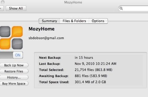 Mozy 2.0 for Mac is faster, more Mac-like