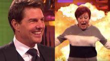 Tom Cruise teaching random audience members to do stunts is amazing