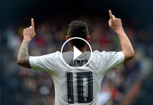 VIDEO: Real Madrid homenajea a James