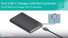 Industry's First Highly Integrated USB-C Buck Charger from Maxim Reduces Size by 30 Percent