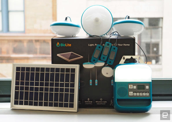 Biolite's SolarHome 620 provides power for everyday essentials