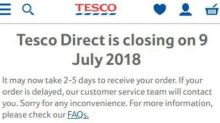Tesco to close non-food website Tesco Direct with 500 jobs at risk
