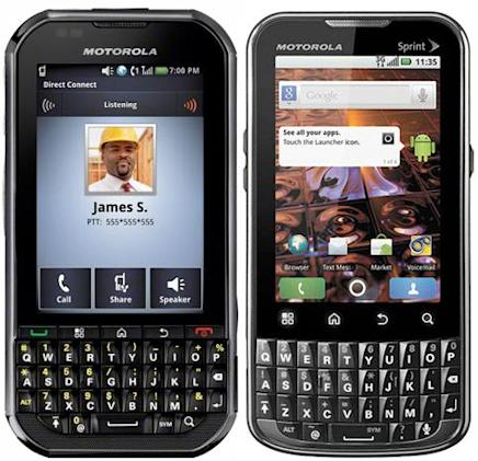 Motorola intros dueling portrait QWERTY Android options for Sprint: XPRT and Titanium