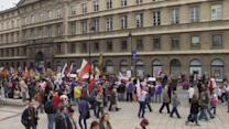 100,000 protest in Warsaw over government's labour policies
