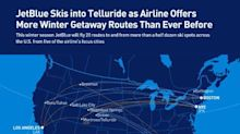JetBlue Skis into Telluride with Winter Seasonal Flights Between Montrose, Colo., and Three Focus Cities