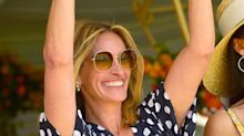 Julia Roberts Channels Her Pretty Woman Character in Polka Dot Ensemble at L.A. Polo Event