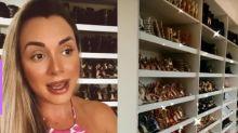 Juju Salimeni mostra closet cheio de sapatos de luxo