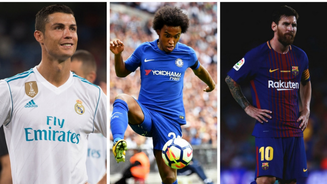 Ronaldo 'to quit Real Madrid', Man City 'meet with Messi's dad', Barca 'target Willian'