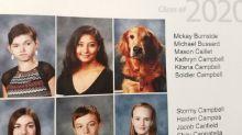 Perro aparece en anuario escolar y la razón es conmovedora
