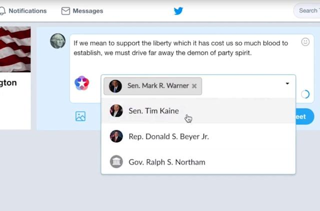 Chrome extension sends your political gripes to Congress