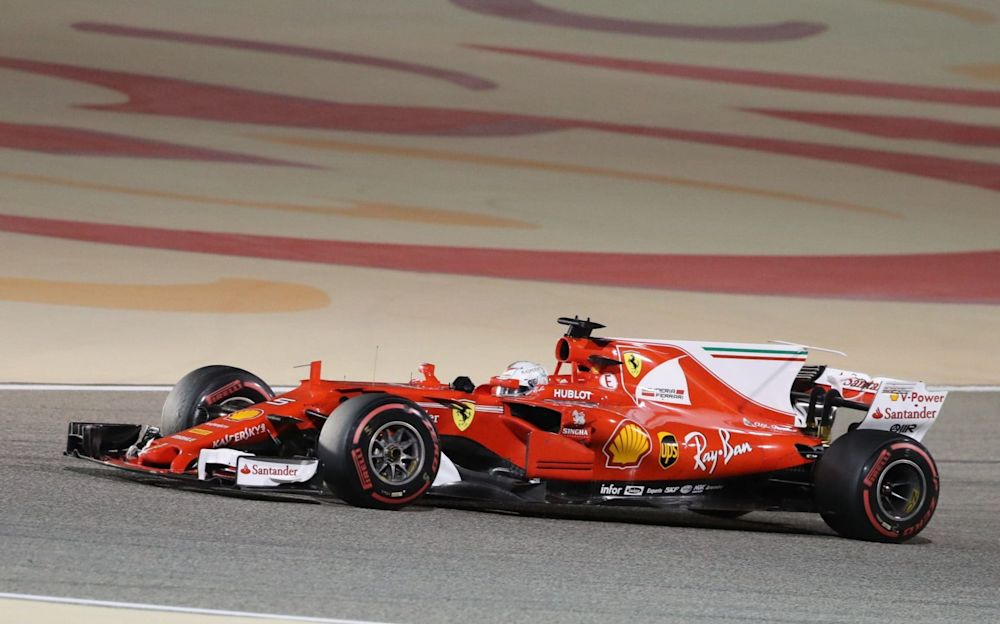 Sebastian Vettel won his second race of the season in Bahrain - AFP