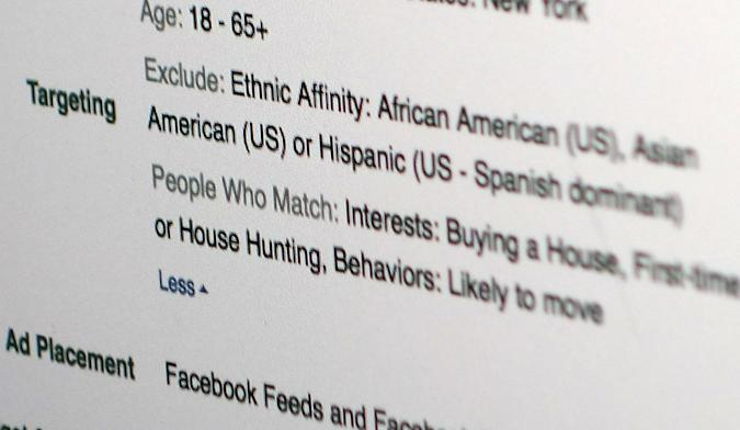 Facebook disables 'ethnic affinity' ads for housing, jobs