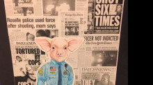 Student's artwork portraying cop as pig gets pulled from art fair amid complaints it 'promotes hatred and divisiveness'