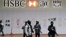 HSBC kicks off year with Hong Kong branches closed, vandalized