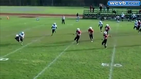 Check out North Andover player's amazing catch, touchdown