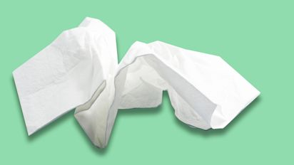 A company's selling used tissues for £62 each