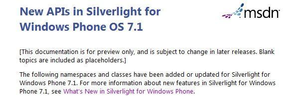 Windows Phone 7.1 is the likely name for Mango OS update