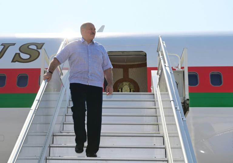 Lukashenko arrived in the Black Sea resort of Sochi, where Putin has a residence, making his first foreign trip since the election