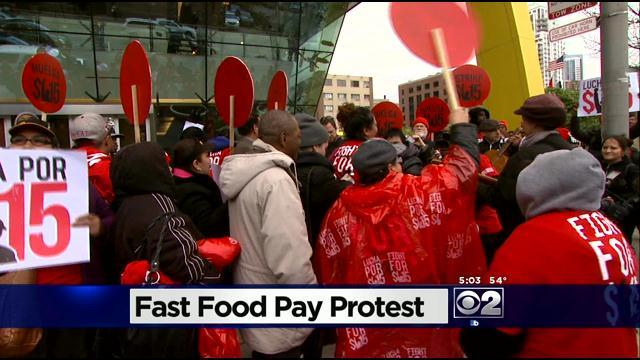 Rallies Held To Demand $15 Minimum Wage