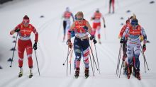 U.S. women's cross-country skiing team barely misses medal in world champs relay