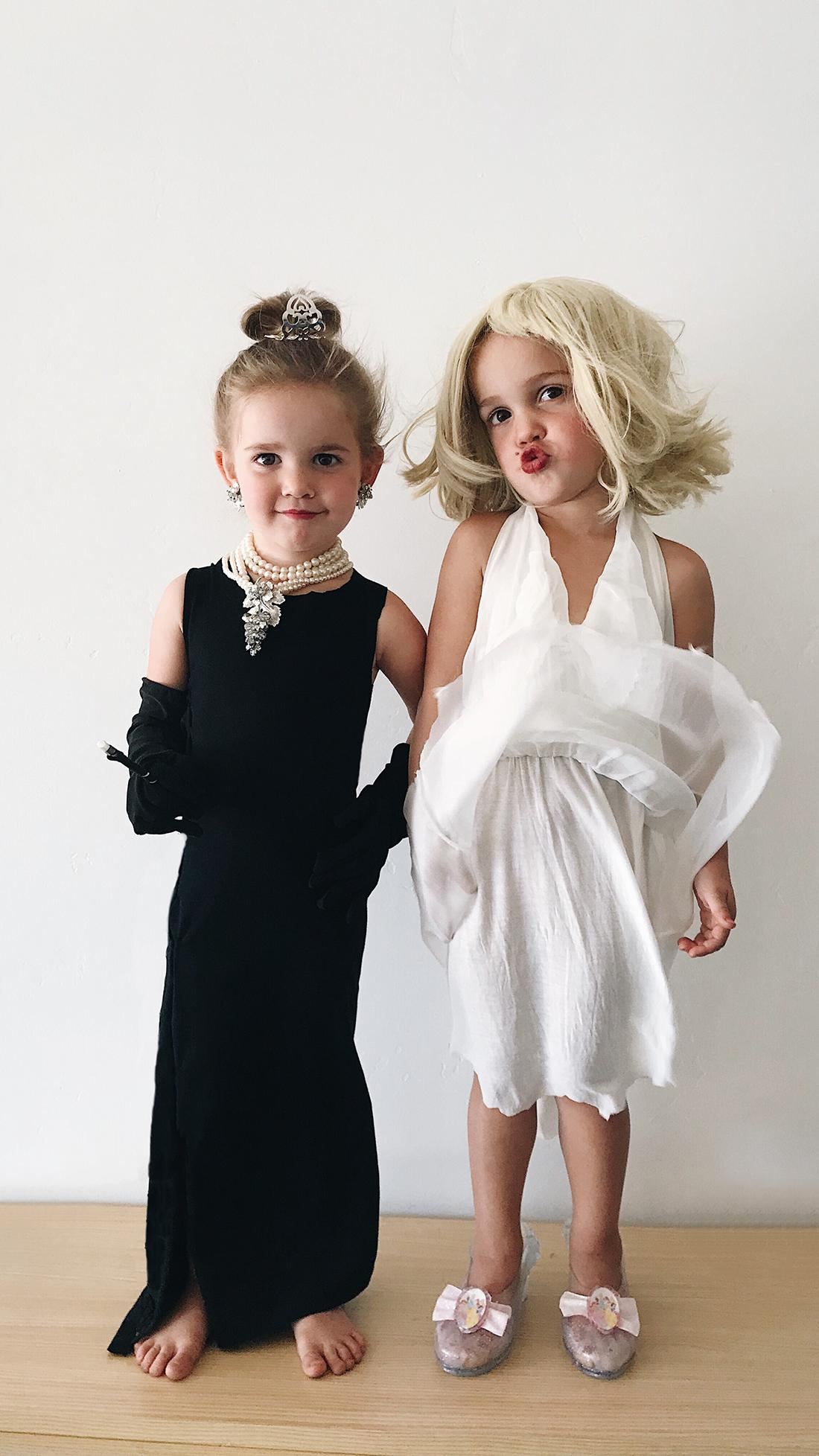 Let's play dress-up! Emma and Mila as Audrey Hepburn and Marilyn Monroe. (Photo courtesy of K.C. Stauffer)