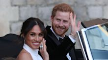 See Meghan Markle Head to Her Reception