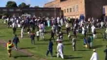 Six injured as car crashes into group of Muslims leaving Eid prayers outside Westgate sports centre in Newcastle