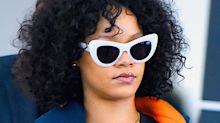 Rihanna channeled Catwoman for Christmas in a teeny leather ensemble