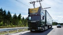 This electric highway for trucks has its origins in the past