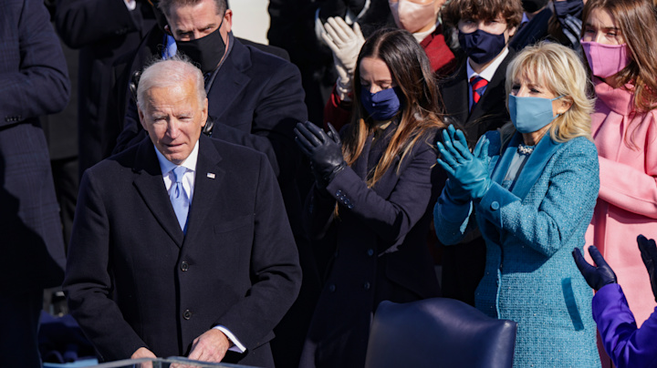 Live: Biden sworn in as president, Harris makes history