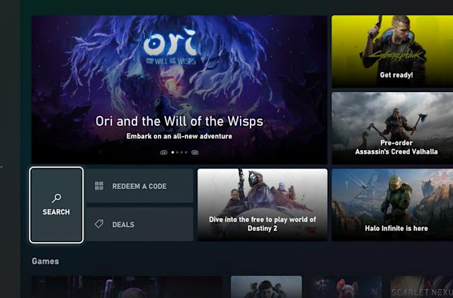 Microsoft redesigned the Xbox store ahead of Series X debut