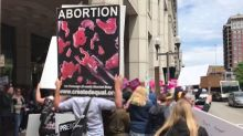 Abortion-Rights Rally Draws Counterprotesters to Ohio Statehouse