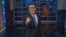 Stephen Colbert accuses Trump of copyright infringement and tells him to 'lawyer up'