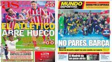 La victoria del Atlético de Madrid, el empate del Madrid y la Superliga Europea, en portadas