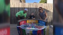 Parents turn son's wheelchair into elaborate 'Wheel of Fortune' costume