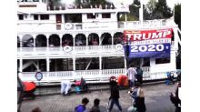 Disneyland kicks man out for unfurling pro-Trump banner