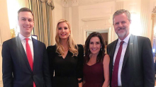 Ivanka Trump smiles in photos with university president in favor of arming college students