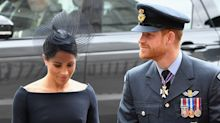 Meghan Markle and Prince Harry's Shy PDA is the Sweetest Part of Their RAF Centenary Appearance