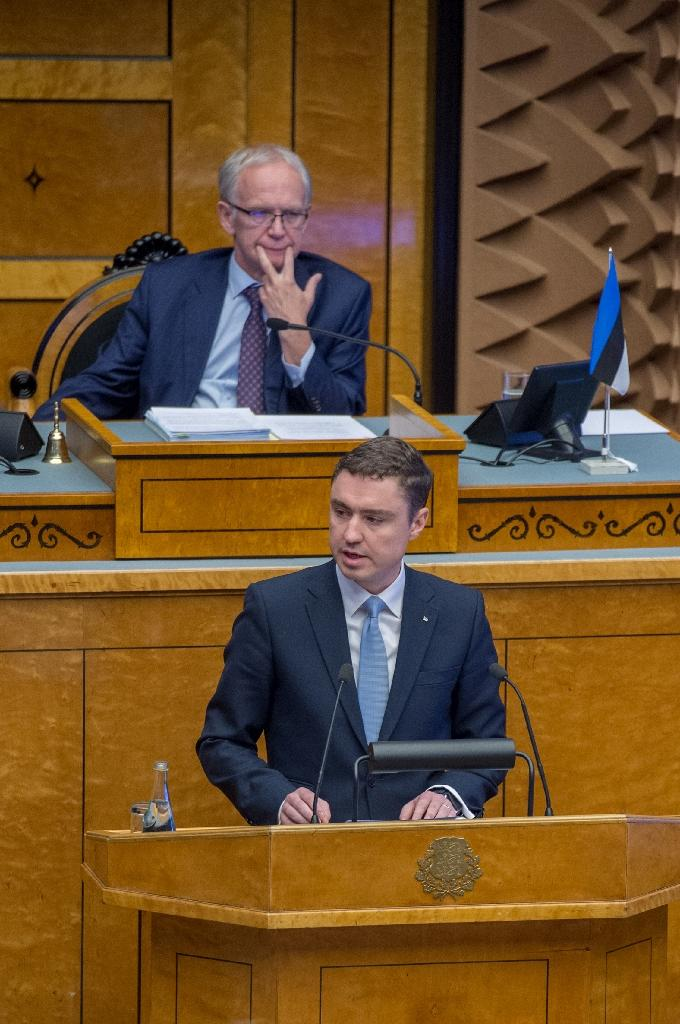 Estonian Prime Minister Taavi Roivas lost a confidence vote in parliament on November 9, 2016 in Tallinn (AFP Photo/Raigo Pajula)