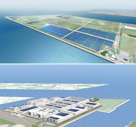 Sharp solar panels to be used in two Japanese mega plants