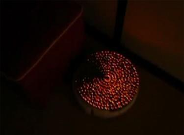 Pac-Man Roomba created with 448 LEDs