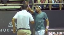 'Go home!': Tennis star, umpire in wild screaming match