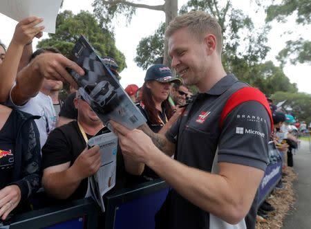 Piloto de Fórmula 1 dinamarquês Kevin Magnussen